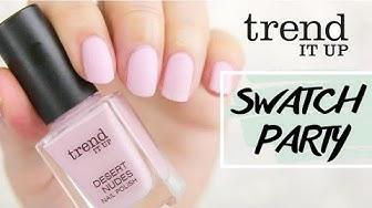 trend it up nagellack Swatch Party - über 20 neue Farben - Vergleich der Reihen