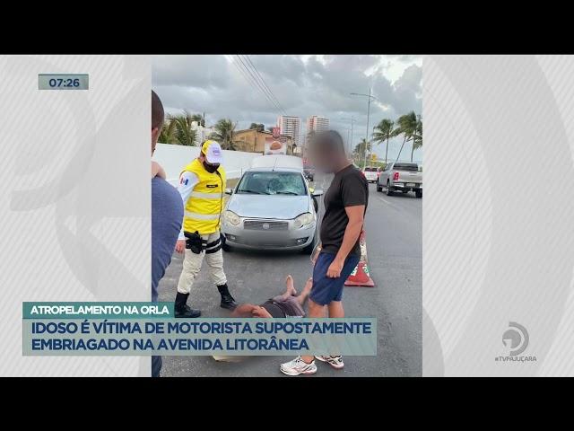 Atropelamento na Orla: Idoso é vítima de motorista supostamente embriagado na Avenida Litorânea
