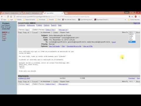 Como usar o webmail SquirrelMail