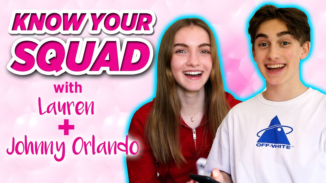 Lauren and Johnny Orlando Play Know Your Squad