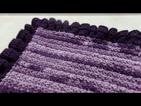 CROCHET How to #Crochet Ruffle Edge Baby Blanket #TUTORIAL #318 LEARN CROCHET