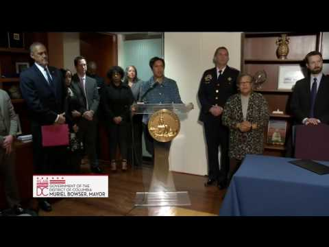 Mayor Bowser Signs GPS Monitoring Legislation, 1/4/17