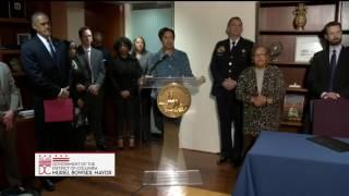 Mayor Bowser Signs GPS Monitoring Legislation, 1/4/17
