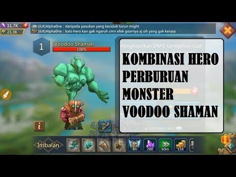 LORDS MOBILE - KOMBINASI HERO PERBURUAN MONSTER VOODOO SHAMAN