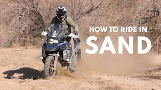 How to Ride iฑ Sand (+ Turn Techniques) for Adventure Motorcycle in Deep Sand / On Roads & Off-road