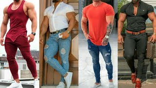 Dressing styles for bodybuilders || Outfit ideas for Muscular Men || Style & Fashion