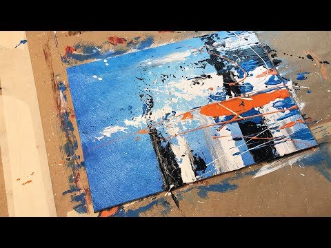 Daily Art Abstract Acrylic Painting / Blending and Palette Knife / Demonstration 009