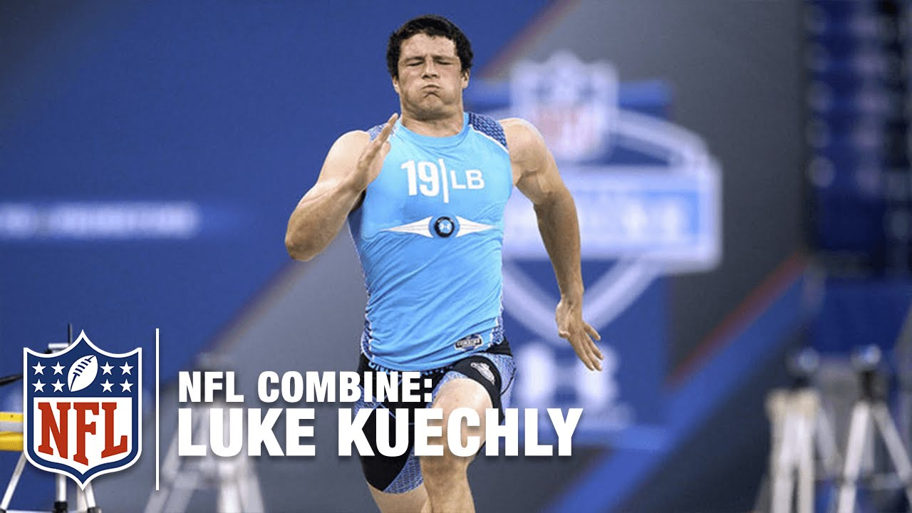 super popular a5c2a 3a313 Luke Kuechly (LB, Boston College) | 2012 NFL Combine Highlights