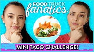 MINI TACOS CHALLENGE?! Food Truck Fanatics w/ Merrell Twins