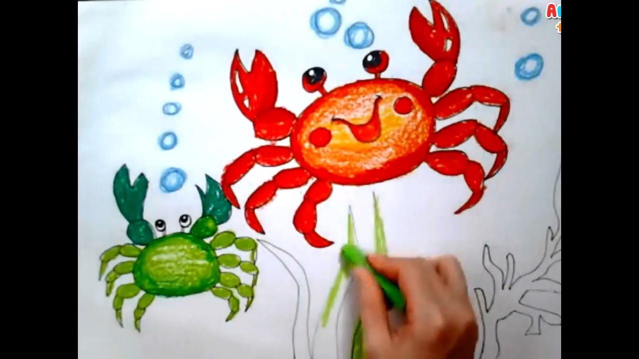 Art For Kids Painting Animals For Kids How To Draw A Crap For Kids Art For