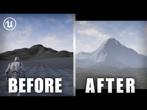 How to make REALISTIC MOUNTAINS!  Unreal Engine 4 Landscape, Level Design, Tutorial thumbnail