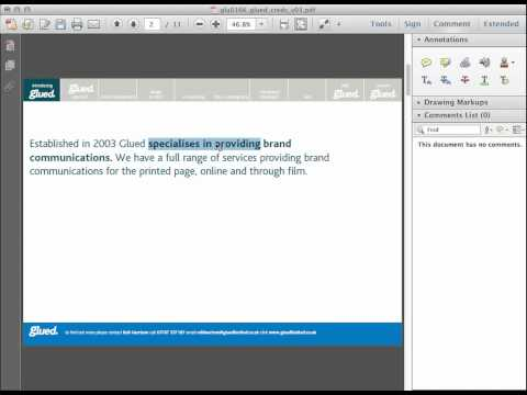 Marking up PDFs in Adobe Reader from Glued