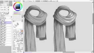 How to draw cloth