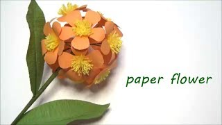 (Paper Flower) How to make a spherical flower【DIY】(ペーパーフラワー)まぁ~るい花の作り方