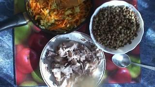 Рецепт: Мясной суп с чечевицей