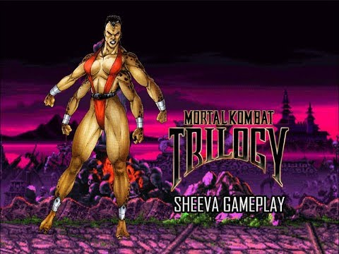 Mortal Kombat Trilogy (PSX) - Sheeva Gameplay (Bio/Ending en Español) 720p60