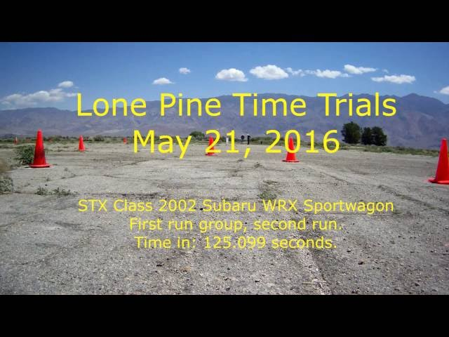 Lone Pine Time Trials 2016