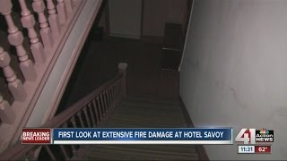 First look at extensive fire damage at Hotel Savoy