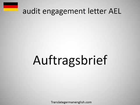 How to say audit engagement letter AEL in German?