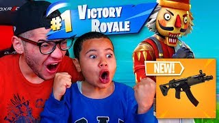 NEW SMG WEAPON IS OVERPOWERED OMG 9 YEAR OLD BROTHER GETS TROLLED  FORTNITE BATTLE ROYALE