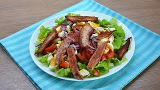 Салат с жареным беконом  Король стола