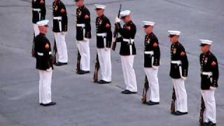 Marines' Silent Drill with an Oops! (
