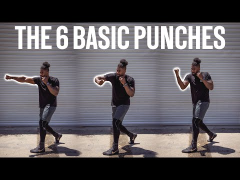Basic boxing punch numbers EXPLAINED
