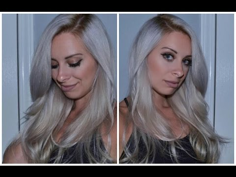 How To The Perfect Silver Hair Tutorial Youtube