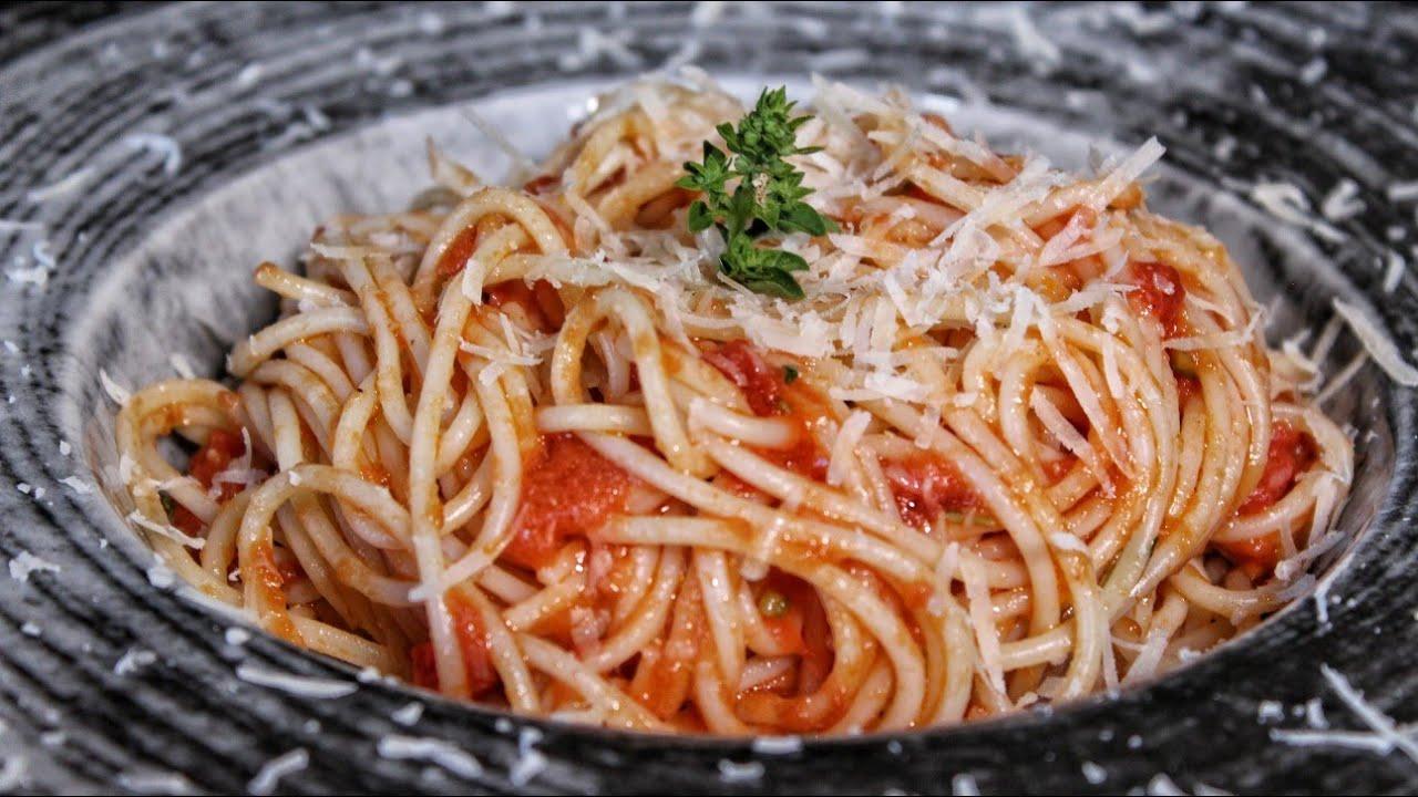 Απίστευτο! Σάλτσα Nτομάτας για μακαρόνια σε 3' - Σπαγγέτι με Σάλτσα Ντομάτας - 3' Tomato Sauce ASMR