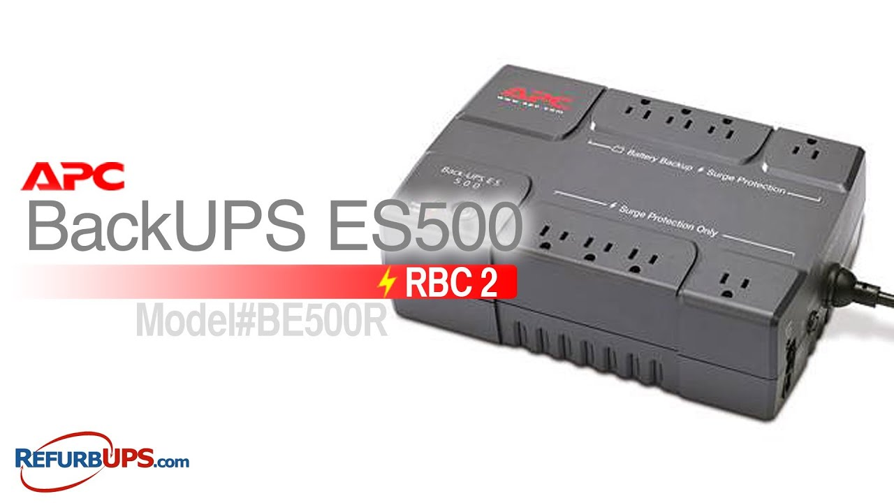 RBC2 Battery Replacement for APC BackUPS ES500 YouTube
