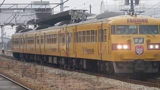 117系 岡オカE-05編成 庭瀬駅発車 2017/02/17