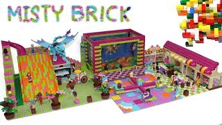 Custom Lego Friends Sea Aquarium, Big Slide, Shops by Misty Brick.