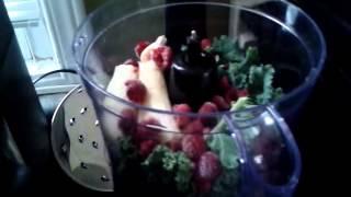 """green"" Smoothie -bananas, Raspberries, & Kale"