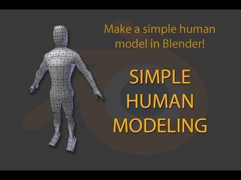 3D model a person easily in Blender