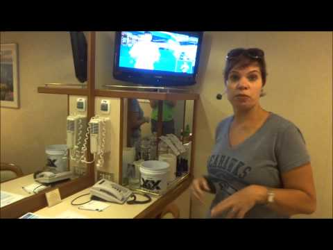 Caribbean Princess inside cabin tour A721