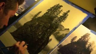 Brad Sherk Art: Alaskan Coast Time Lapse