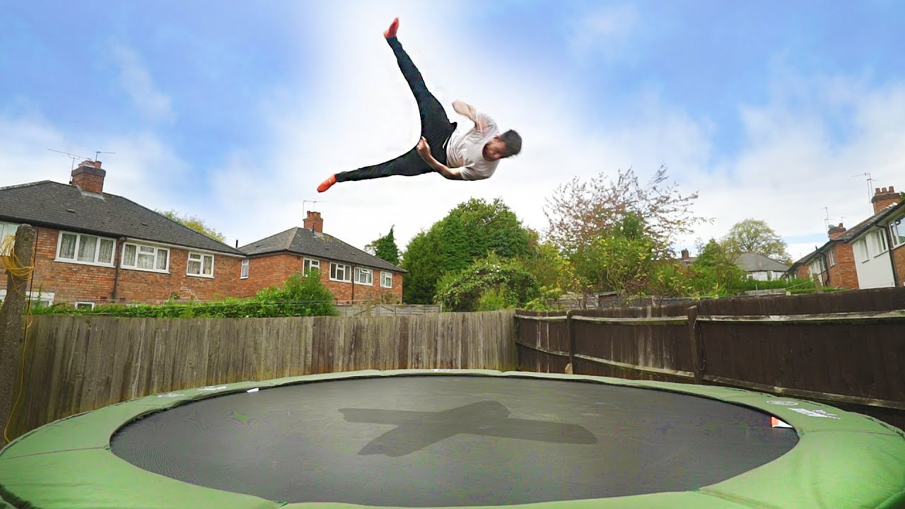 Image result for Trampoline in the Garden""