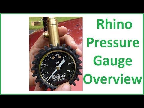 Rhino 75 psi Tire Pressure Gauge Overview (GRLA-GAUGE-75)