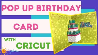 Cricut Birthday Cake Pop Up Card | Melody Lane