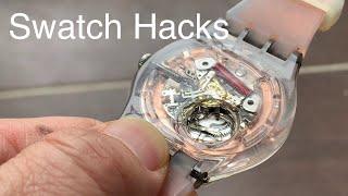 고장난 일체형 스와치 손목시계 분해해 보기 Swatch…
