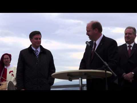 Ministerpräsident David McAllister eröffnet die Werla Pfalz