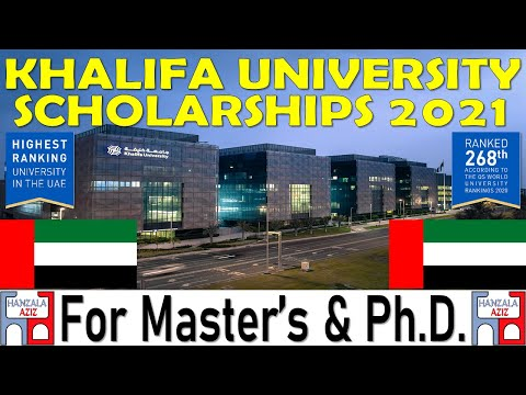 Khalifa University UAE | Scholarships 2021 | Postgraduate | International Scholarship | Hanzala Aziz