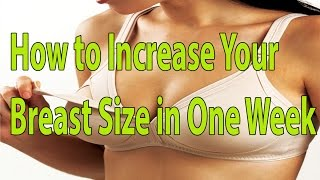 How to Increase Your Breast Size in One Week | Health Tips | Hindi | Telugu