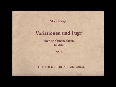 Max Reger - Variationen und Fuge über ein Originalthema op. 73 - Willem Tanke, organ