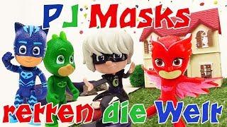 Video mit Pyjamahelden. Spaß mit PJ Masks.