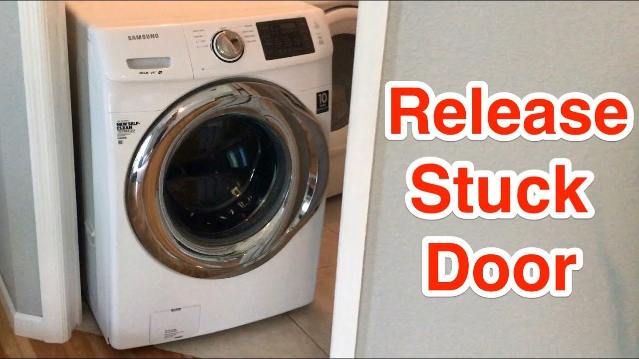 How To Replace Door Latch On Wf350 Front Loading Samsung Washer Youtube