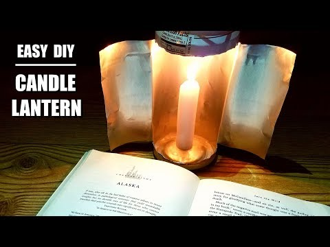 Easy DIY Emergency Candle Lantern