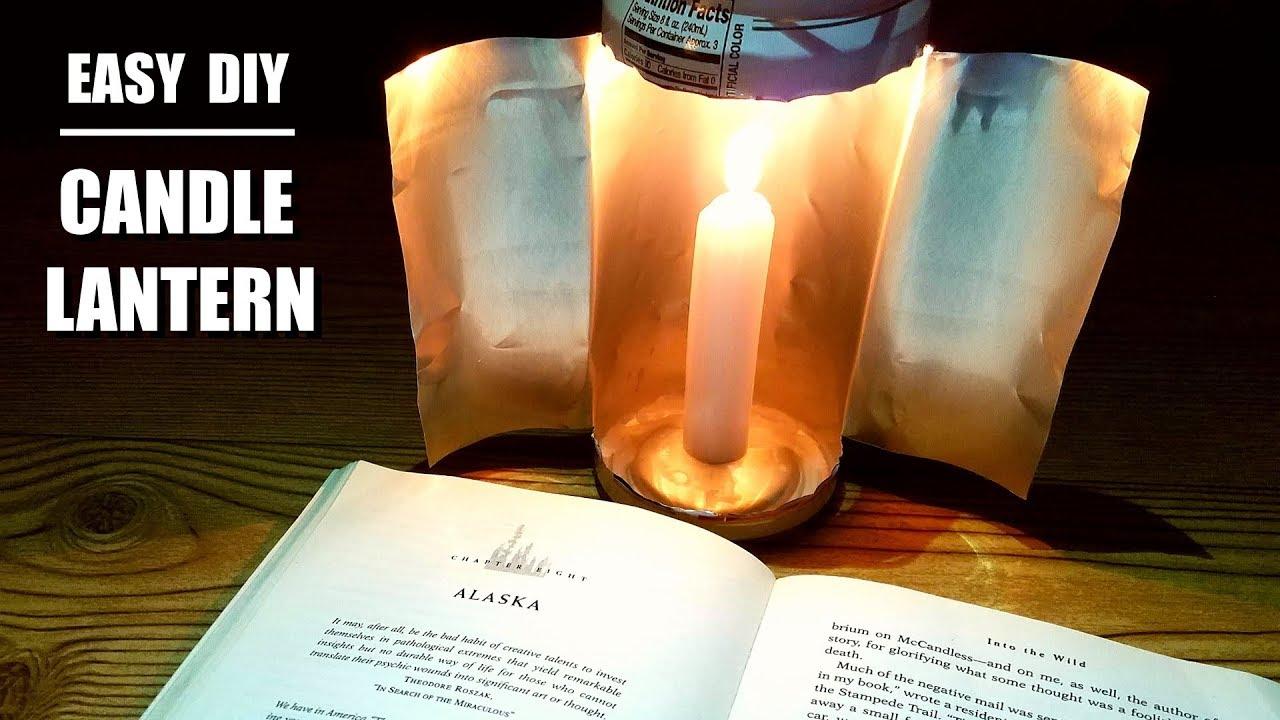 Easy Diy Emergency Candle Lantern Youtube