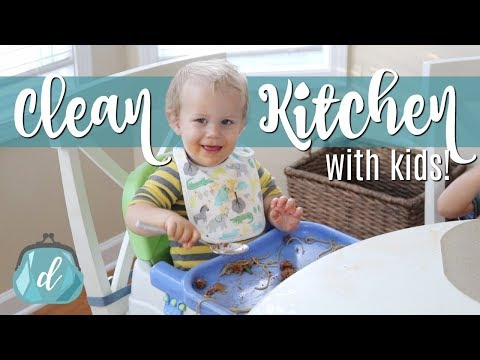 Six Tips for a CLEAN & ORGANIZED Kitchen with Kids! 💙 👶🏻 (sponsored by Munchkin and OxiClean)
