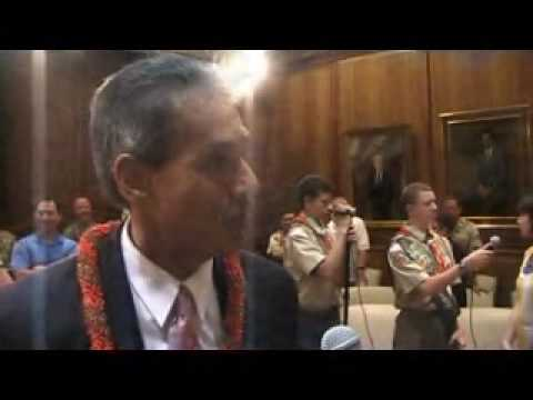 One of the interviews of Lt. Governor of Hawaii, Duke Aiona